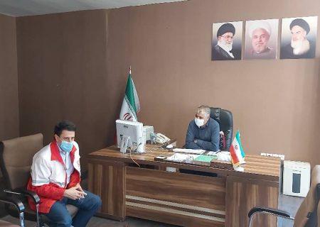 دیدار سرپرست جمعیت هلال احمر شهرستان تبریز با بخشدار مرکزی تبریز