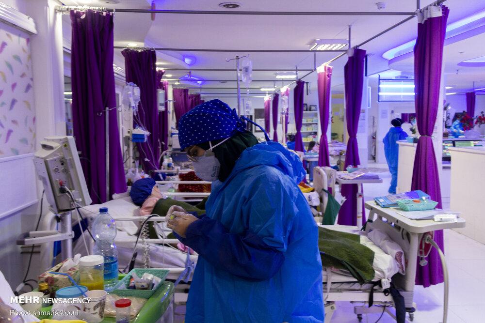 پر شدن تخت های کرونایی بیمارستان اهر