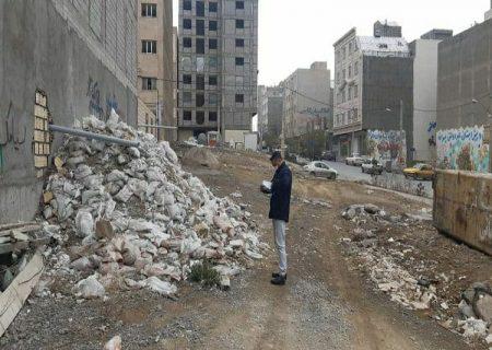 معضلی به نام ریختن نخاله ساختمانی در معابر عمومی شرق تبریز