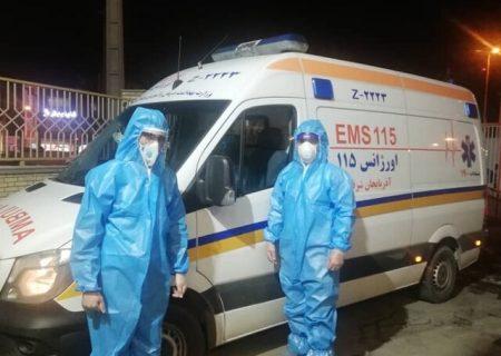 ابتلای ۲۲۶ نفر از پرسنل اورژانس آذربایجان شرقی به کرونا