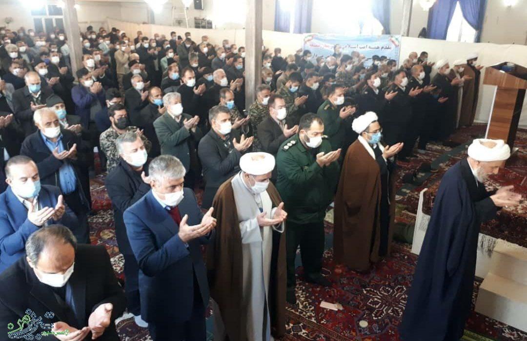 اولین نماز جمعه شهر باسمنج