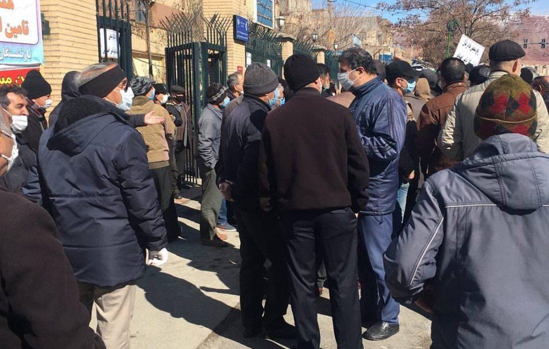 تجمع اعتراضی بازنشستگان برای پنجمین بار در تبریز!