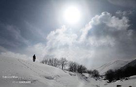 طبیعت زمستانی روستای کله قندی کندوان