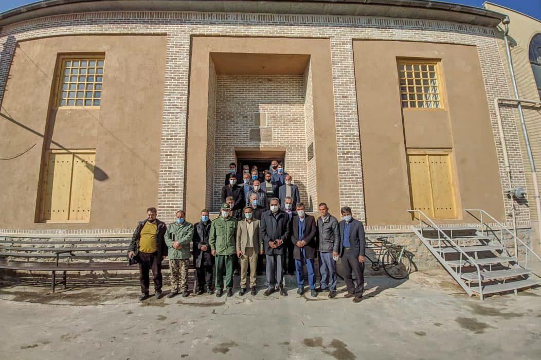 بهرهبرداری از مسجد جامع گوگان و رونمایی از پرده تاریخی مرمت شده واقعه عاشورا