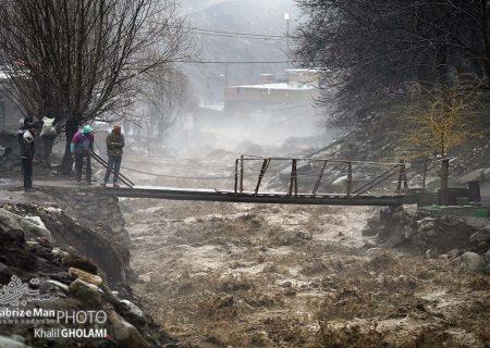 سیلاب بهاری در دامنه های میشو آذربایجان