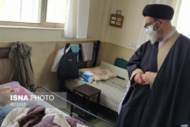 بازدید امام جمعهی تبریز از خانهی سالمندان محبت