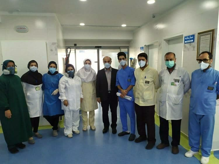 بازدید رییس دانشگاه علوم پزشکی تبریز از بیمارستان فوق تخصصی شهید محلاتی