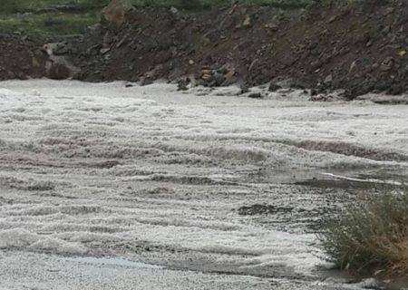 وقوع سیل و خسارت شدید بارش باران و تگرگ در اهر