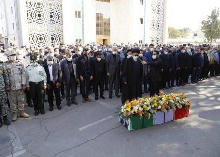 مراسم تشییع پیکر مرحوم علیار راستگو در محل استانداری آذربایجان شرقی برگزار شد