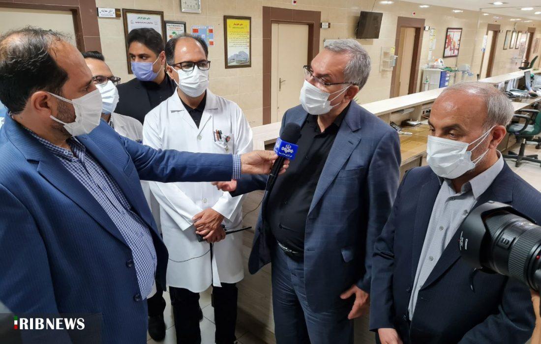 بازدید وزیر بهداشت از بیمارستان امام رضای تبریز