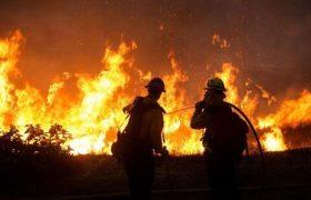 آتش سوزی در روستای ایوق بخش مهربان سراب